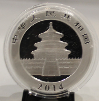 2014 CHINESE PANDA 1oz. SILVER COIN