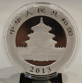 2013 CHINESE PANDA 1oz. SILVER COIN