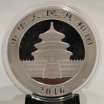 2016 CHINESE PANDA 30 GRAM SILVER COIN