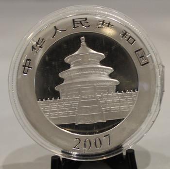 2007 CHINESE PANDA 1oz. SILVER COIN