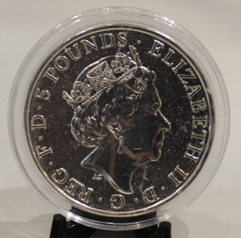 2017 QUEEN'S BEAST 2oz. SILVER COIN - RED DRAGON OF WALES