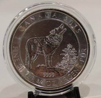2015 3/4 oz. SILVER COIN GREY WOLF
