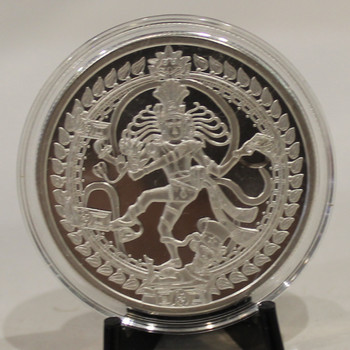1oz. SILVER SHIELD ROUND - NATARAJA