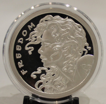 1oz. SILVER SHIELD ROUND FREEDOM GIRL(PROOF)