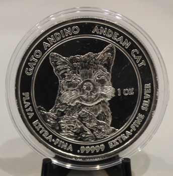 1oz. 99999 SILVER ROUND - ANDEAN CAT - ROYAL SILVER COMPANY