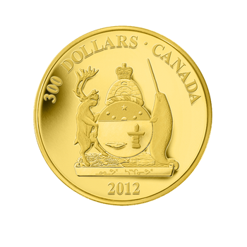 2012 $300 14KT GOLD COIN - PROVINCIAL COATS OF ARMS - NUNAVUT