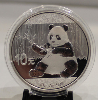 2017 CHINESE PANDA 30 GRAM SILVER COIN