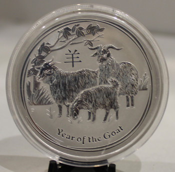 2015 AUSTRALIA 2oz. SILVER COIN YEAR OF THE GOAT
