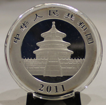 2011 CHINESE PANDA 1oz SILVER COIN (TARNISH)