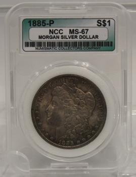 1885 MORGAN SILVER DOLLAR NCC MS-67