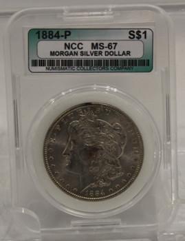 1884 MORGAN SILVER DOLLAR NCC MS-67