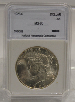 1923 S PEACE SILVER DOLLAR MS-65