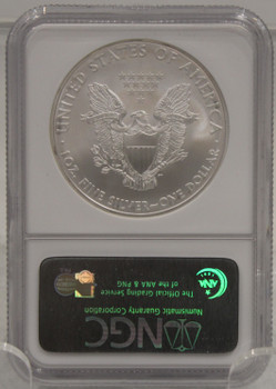 2008 1oz. SILVER EAGLE - NGC GEM UNCIRCULATED