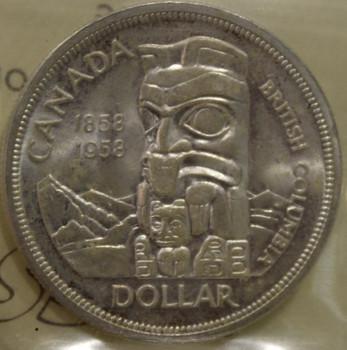 1958 CIRCULATION $1 COIN - MS 63