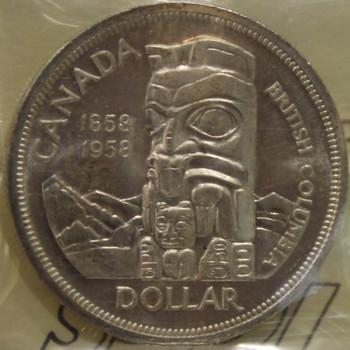 1958 CIRCULATION $1 COIN MS 63
