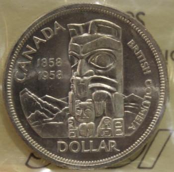 1958 CIRCULATION $1 COIN - MS 62
