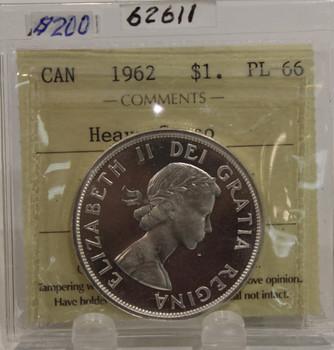 1962 CIRCULATION $1 COIN - HEAVY CAMEO - PL66