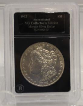 1902 MORGAN SILVER DOLLAR  - VG