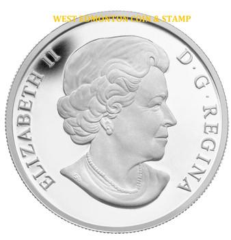 2013 $10 FINE SILVER COIN - O CANADA SERIES - NIAGARA FALLS