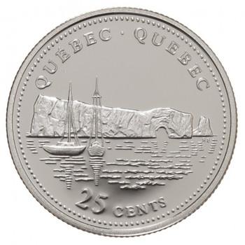 1992 QUEBEC 25-CENT ROLL