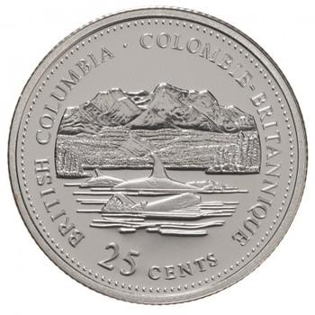 1992 BRITISH COLUMBIA 25-CENT ROLL
