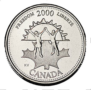 2000 FREEDOM 25-CENT ROLL