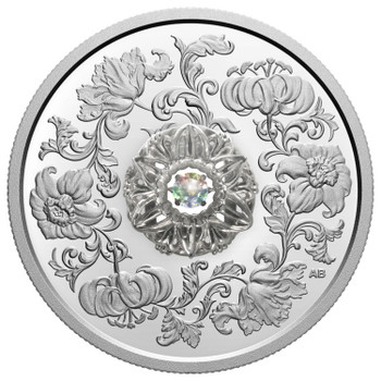 2020 $20 FINE SILVER COIN DANCING DIAMOND: SPARKLE OF THE HEART