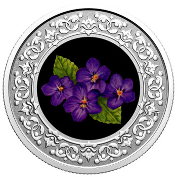 2020 $3 FINE SILVER COIN FLORAL EMBLEMS OF CANADA – NEW BRUNSWICK: PURPLE VIOLET