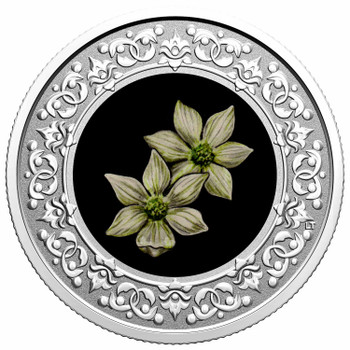 2020 $3 FINE SILVER COIN FLORAL EMBLEMS OF CANADA – BRITISH COLUMBIA: PACIFIC DOGWOOD