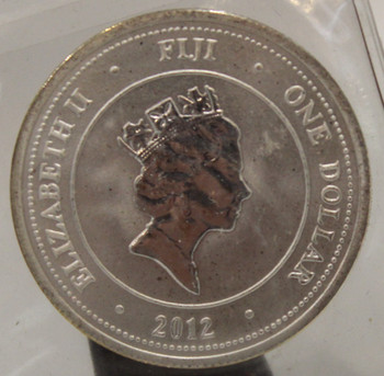 2012 FIJI TURTLE 1/2oz.  SILVER COIN