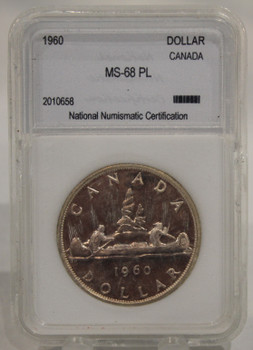 1960 CIRCULATION 1-DOLLAR COIN - MS-68 PL