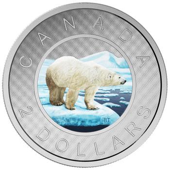 2016 $2 FINE SILVER BIG COIN SERIES - TOONIE - NO CARDBOARD BOX