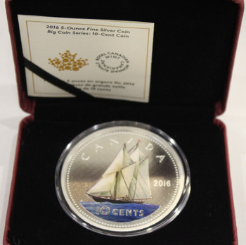 2016 10-CENT FINE SILVER BIG COIN  - DIME - NO CARDBOARD BOX