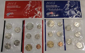 2005 UNITED STATES MINT P & D UNCIRCULATED COIN SETS