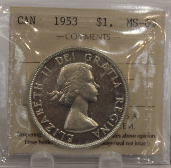 1953 NSF CIRCULATION 1-DOLLAR COIN - MS-60