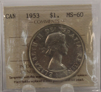 1953 NSF CIRCULATION 1-DOLLAR COIN - MS60