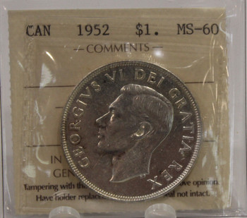 1952 NWL CIRCULATION 1-DOLLAR COIN - MS-60