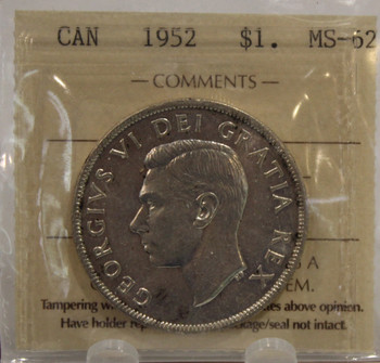 1952 WL CIRCULATION 1-DOLLAR COIN - MS-62
