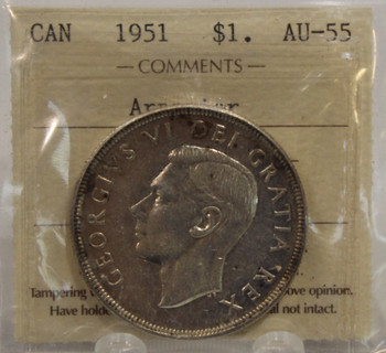 1951 ARNPRIOR CIRCULATION 1-DOLLAR COIN - AU-55
