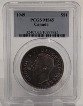 1949 CIRCULATION 1-DOLLAR COIN - MS-65