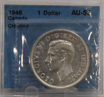 1946 FWL CIRCULATION 1-DOLLAR COIN - AU-55 (CLEANED)