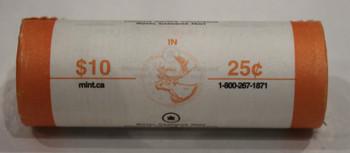 2005 SASKATCHEWAN CENTENNIAL 25-CENT ROLL