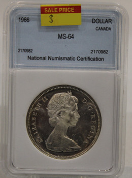 1966 CIRCULATION 1-DOLLAR COIN - MS-64