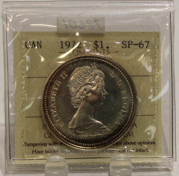 1972 CIRCULATION $1 COIN - SILVER - SP67