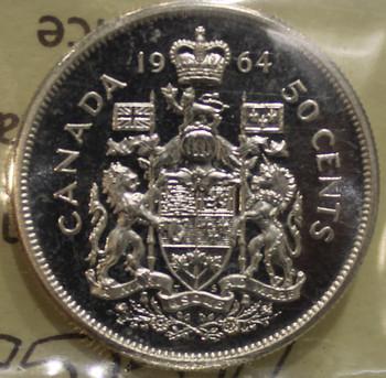 1964 CIRCULATION 50-CENT COIN - HEAVY CAMEO - PL65