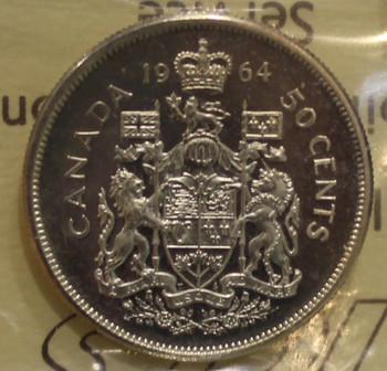 1964 CIRCULATION 50-CENT COIN - CAMEO - PL-65