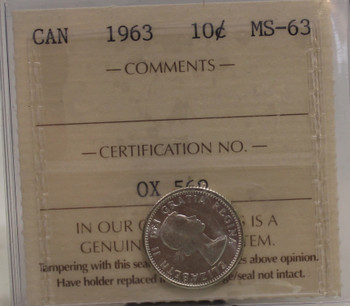 1963 CIRCULATION 10-CENT COIN - MS63