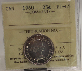 1960 CIRCULATION 25-CENT COIN - PL65