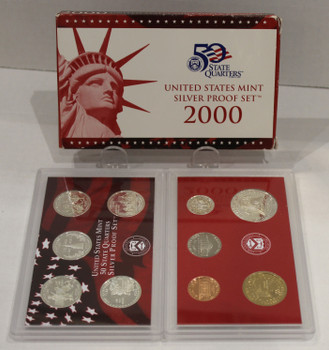 2000 UNITED STATES MINT SILVER PROOF SET