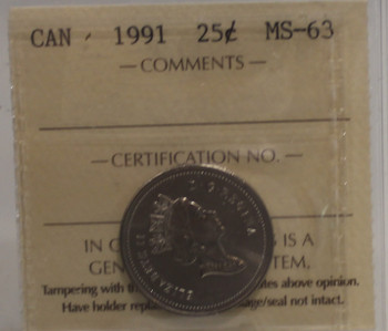 1991 CIRCULATION 25-CENT COIN - MS 63